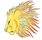 Tribal Lion. This is a tribal lion designed with tattoos in mind Stock Images
