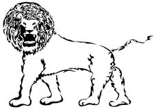 Tribal Lion. A tribal lion with an intimidating look vector illustration