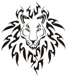 Tribal lion head, vector Stock Photography