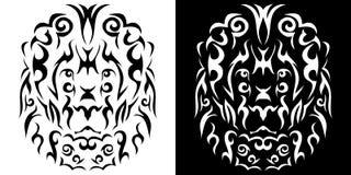 Tribal lion illustration Royalty Free Stock Image
