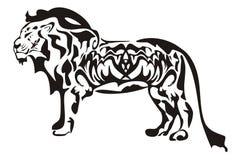 Tribal lion Royalty Free Stock Image