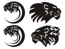 Tribal lion symbols, vector royalty free illustration