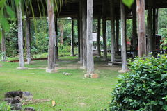 Tribal longhouse architecture. At Culture village at Sarawak Malaysia Stock Image