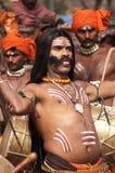 Tribal Man Dancing Royalty Free Stock Image