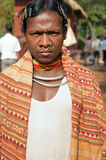 Tribal man of India. A tribal man from Orissa, India at the annual tribal fair on 30 January, 2011 Stock Image