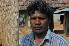 Tribal Man in India Stock Photo