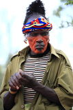 Tribal man stock images
