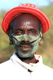 Tribal man. Man of an indigenous tribe in ethiopia staring in the lense Stock Photography