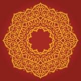 Tribal mandala. Image of a beautiful oriental mandala on red background Stock Image