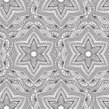 Tribal mandala pattern background. Seamless tribal mandala pattern background. Mediative zentangle creative illustration Stock Image