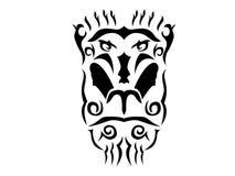 Tribal mandrill illustration. Mandrill in tribal style, ornamental mandrill illustration on white background Stock Images
