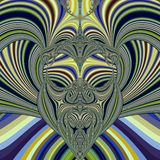 Tribal mask. Abstract fractal illustration created with the fractal explorer Stock Photography