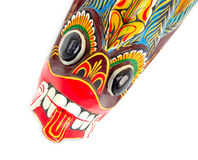 Tribal mask. Close-up of african ritual tribal mask of spirit defender Royalty Free Stock Photography