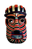 Tribal mask. Colorful tribal mask on an isolated white background Stock Photos