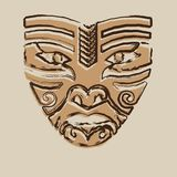 Tribal Mask. Tonal tribal mask used for decoration or ceremony Stock Image