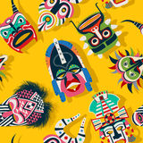 Tribal mask ethnic Stock Image