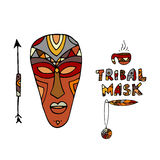 Tribal mask ethnic, sketch for your design Royalty Free Stock Photo