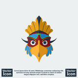 Tribal mask icon Stock Image