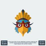 Tribal mask icon Stock Image