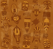 Tribal Mask Seamless Texture Stock Photos