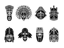 Tribal mask set Royalty Free Stock Images
