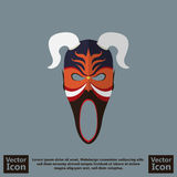Tribal mask symbol. Flat style icon with tribal mask symbol Stock Photography