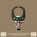 Tribal mask symbol. Flat style icon with tribal mask symbol Stock Photos