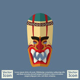 Tribal mask symbol. Flat style icon with tribal mask symbol Stock Images