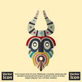 Tribal mask symbol. Flat style icon with tribal mask symbol Royalty Free Stock Photos