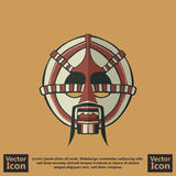 Tribal mask symbol. Flat style icon with tribal mask symbol Royalty Free Stock Images