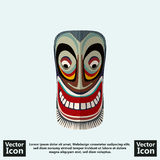 Tribal mask symbol. Flat style icon with tribal mask symbol Royalty Free Stock Photography