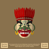 Tribal mask symbol. Flat style icon with tribal mask symbol Stock Photo
