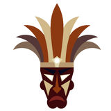 Tribal mask on a white background Royalty Free Stock Photography