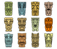 Tribal masks of idols and demons Stock Photography