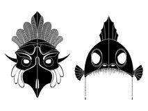 Tribal masks Stock Photo