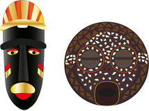 Tribal masks. The peoples of Africa vector illustration