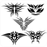 Tribal masks - Vector set. Royalty Free Stock Image