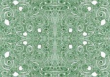 Tribal Labyrinth Seamless Pattern Background stock illustration