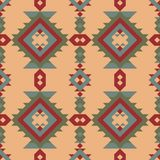 Tribal seamless Indian pattern. Geometric design. A tribal Mexican ornament of the Aztecs. Ethnic seamless abstract pattern. Boho style Stock Images