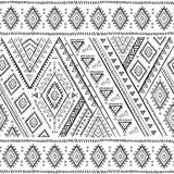 Tribal Mexican vintage ethnic seamless pattern Stock Photos