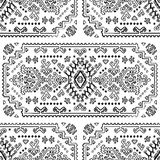 Tribal Mexican vintage ethnic seamless pattern Stock Image