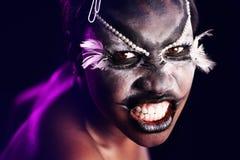 Tribal. Model with heavy alternative make up royalty free stock photography