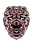 Tribal monkey head illustration Stock Photos