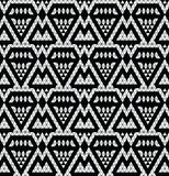 Tribal monochrome lace. Royalty Free Stock Photos