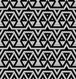 Tribal monochrome lace. Royalty Free Stock Image