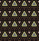 Tribal monochrome pattern. Stock Photo
