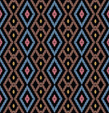 Tribal monochrome pattern. Royalty Free Stock Photo