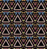 Tribal monochrome pattern. Stock Photos