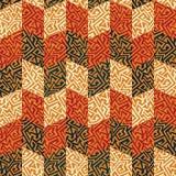 Tribal mosaic seamless pattern. (eps 10 vector file vector illustration