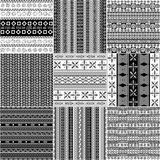 Tribal motif monochrome set Stock Images